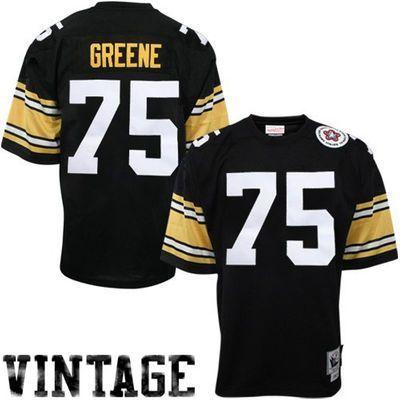 b58ea5ecc ... Mens Pittsburgh Steelers Joe Greene Mitchell Ness Black Authentic Throwback  Jersey ...