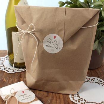24 Aufkleber Für den Kater danach! für Party Survival Kit in Creme, für die Gastgeschenke zur Hochzeit, Geburtstag, Party :)