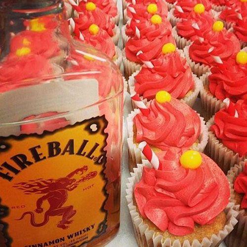 fireball cupcakes + other fireball desserts.