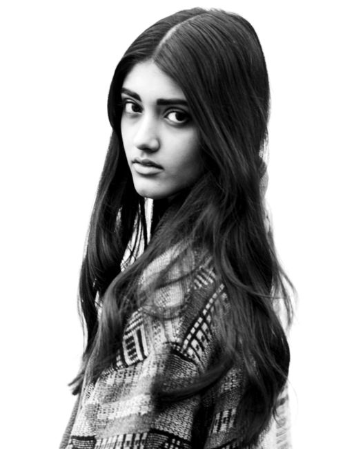 Neelam Johal, Burberry's first Indian model. Pretty dope. Reminds me a little of my sister