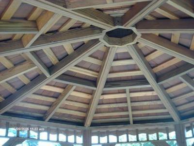Underside Of A Cedar Shingle Gazebo Roof Pergolas And