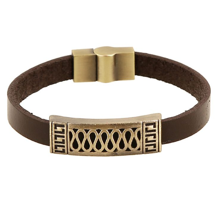 Vintage Retro Pulseira Homens Masculina Couro Male Cool Leather Hollow Infinite Bracelet Biker Mens Steampunk Leather Jewellery //Price: $US $2.32 & Up To 18% Cashback //     #gothic