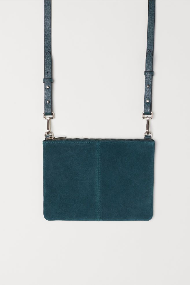 b66ddd4ea59d Small Bag with Suede Details - Dark green - Ladies
