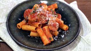 Rigatoni with Sausage and Tomato Recipe | The Chew - ABC.com