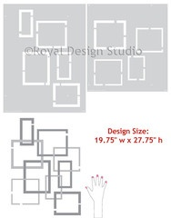 Hip to be Square stencils designs