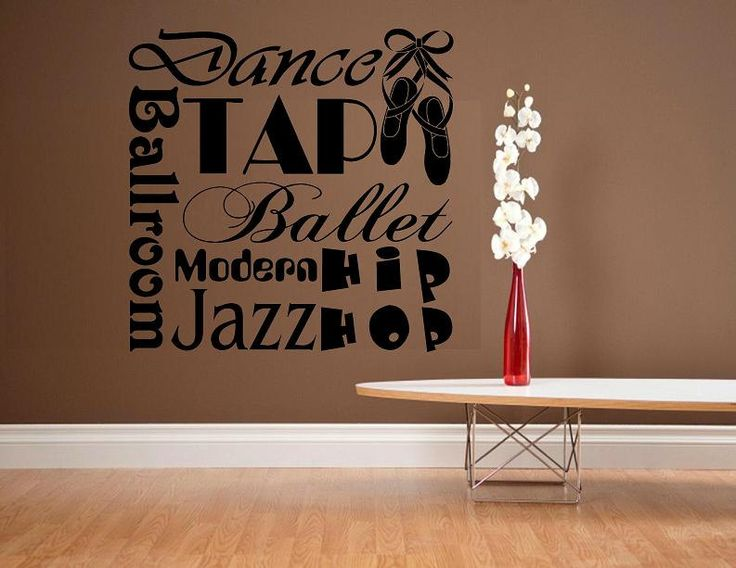 vinyl wall decal quote Dance subway style sports dancing ballet. $24.95, via Etsy. (This would be awesome on our walls at home when we get our room fixed into a dance studio)