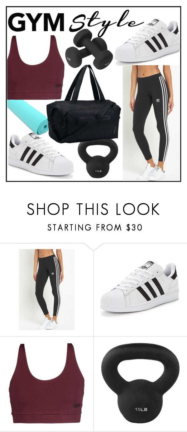 """Gym Style"" by awkwardduckling ❤ liked on Polyvore featuring adidas Originals, Dimensione Danza, Maha Fitness, Under Armour and INC International Concepts"