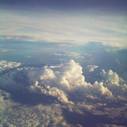 From the plane.