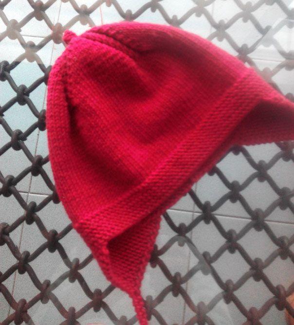 Cómo hacer un gorro de aviador para niño, 1 sólo ovillo de lana de merino 100%.
