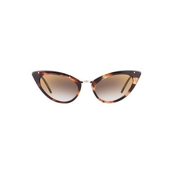 Tom Ford Grace Brown Mirror Cat Eye Sunglasses ($100) ❤ liked on Polyvore featuring jewelry, brown jewelry, metal jewelry, cats eye jewelry, tom ford jewelry and tom ford