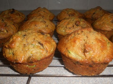 A healthy tasty muffin that hides a few vegetables.