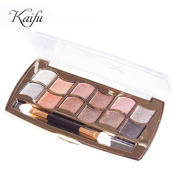 12 colors eyeshadow diamond bright colorful eye shadow palette super flash paleta de maquiagem Glitter eyeshadow with brush *** Click on the image for additional details.
