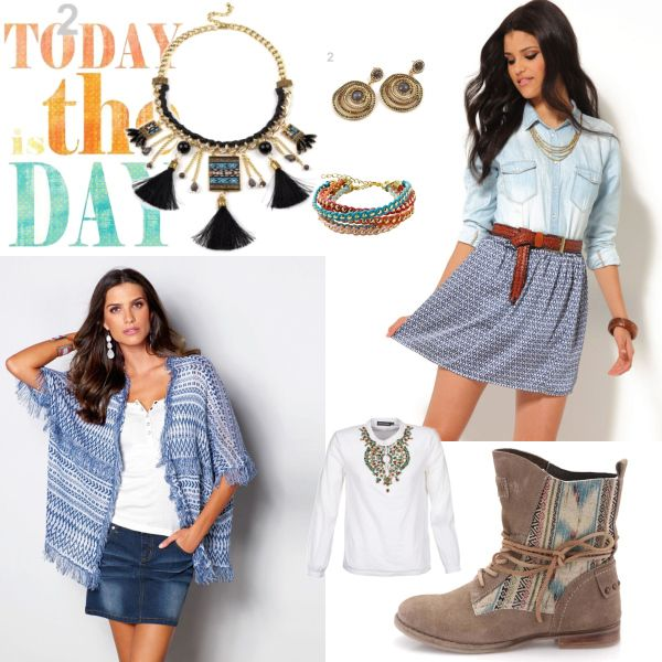 hravé etno #etno #skirt #fashion #cardigan #play #trendy #chic #moda #modra #sukne #kardigan