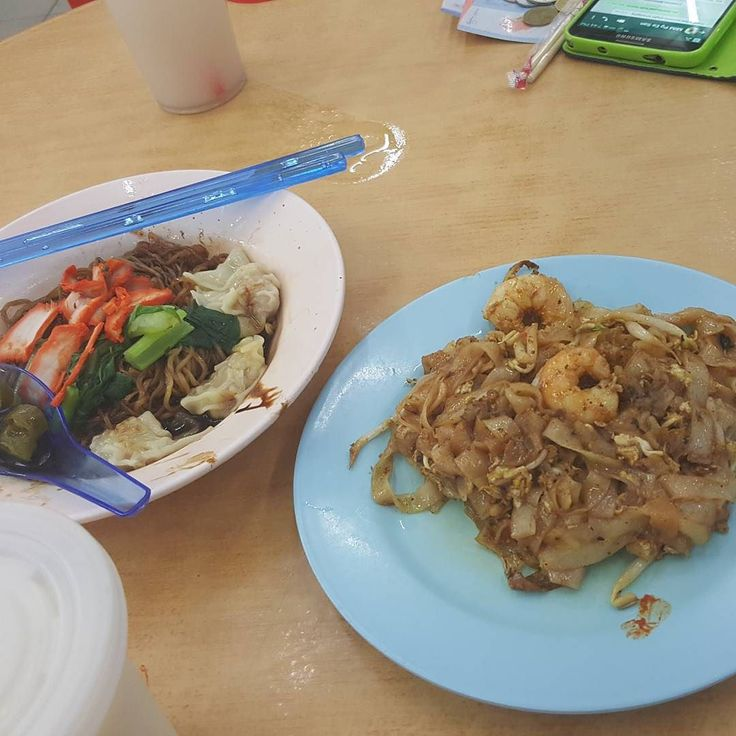 Delicious hawker food before late night flight to KL.