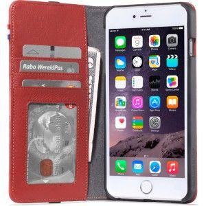 Gezien op Beslist.nl: IPhone hoesje Decoded iPhone 6/6S Plus Leather Wallet Case Red