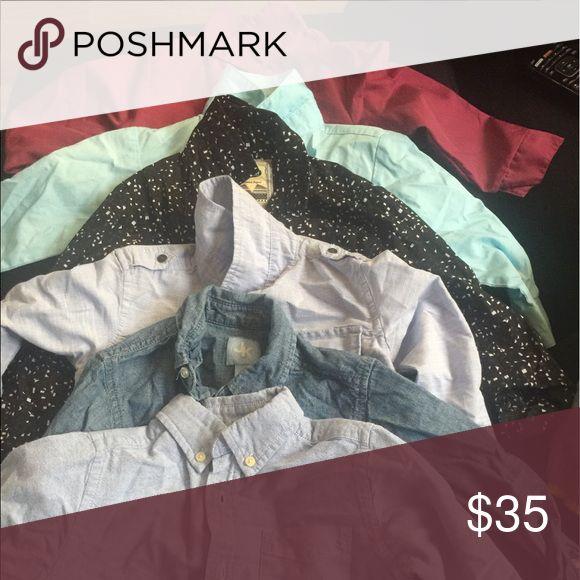 6pns long sleeves/ formal/church attire 6pcs formal long sleeves Shirts & Tops Button Down Shirts