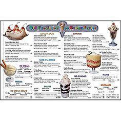 Six extra price lists for the Old Fashioned Ice Cream Parlor. Perfect for role-playing situations and classrooms where students will benefit from having their own full-color, realistic price list to u