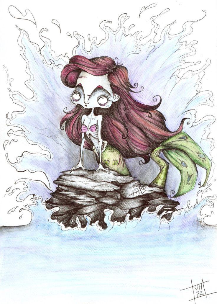 Disney Princess Creepy Tim Burton Version di UMartsFantasyShop su Etsy