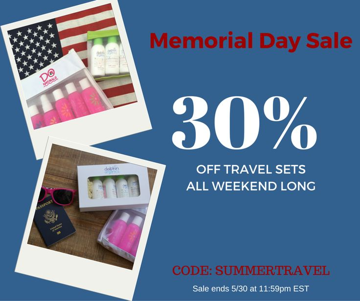 Save 30% on all travel sets this Memorial Day Weekend ...