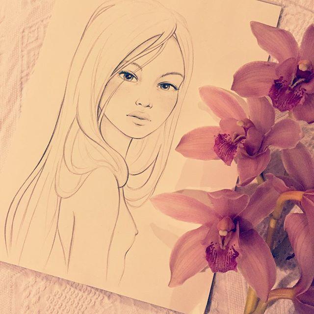 Sketching faces for @flofoxworthy's tattoo. #sketchingfaces #drawingwomen #artoftheday #beautifulwomen #illustration #artstagram #drawingwithpencil #sketch #flowersandladies #drawdaily #artwork #tattoodesign #tattoosforgirls #tattoosforwomen