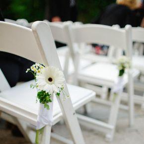 White Wedding Aisle Decorations