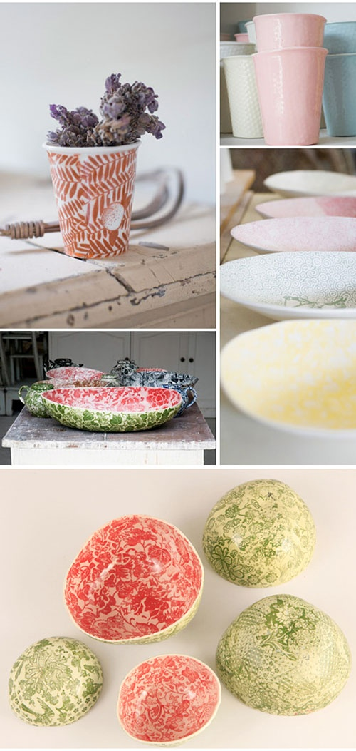 Samantha Robinson`s ceramics - I love her work and own a few of her pieces.