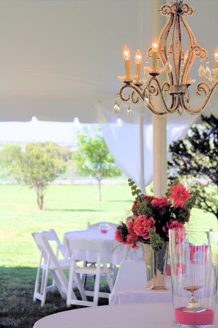 Chandeliers for outdoor wedding under a tent - Moonwater Weddings, gorgeous!