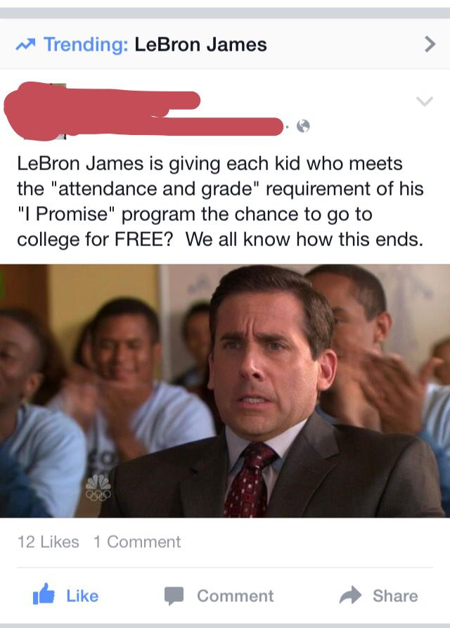 LeBron James doesn't watch the office.