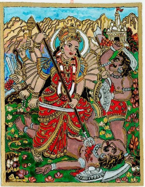 The Godess defeats Mahisa, 2012 spring, Navratri