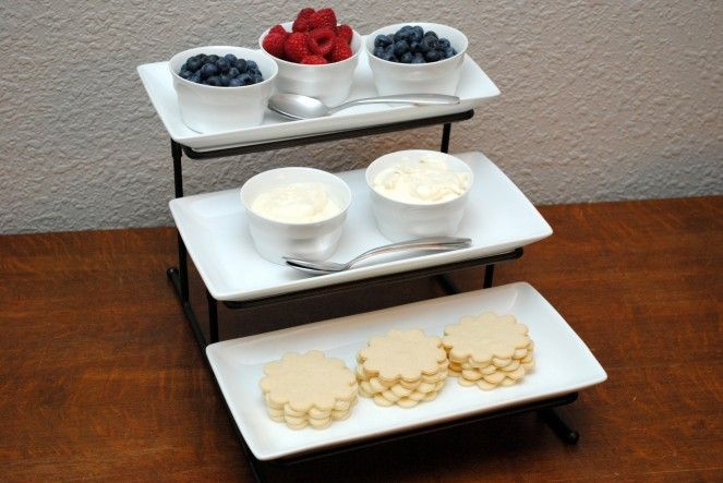 """fruit pizza bar - I like the idea of using cream cheese & marshmallow fluff for the """"sauce"""""""