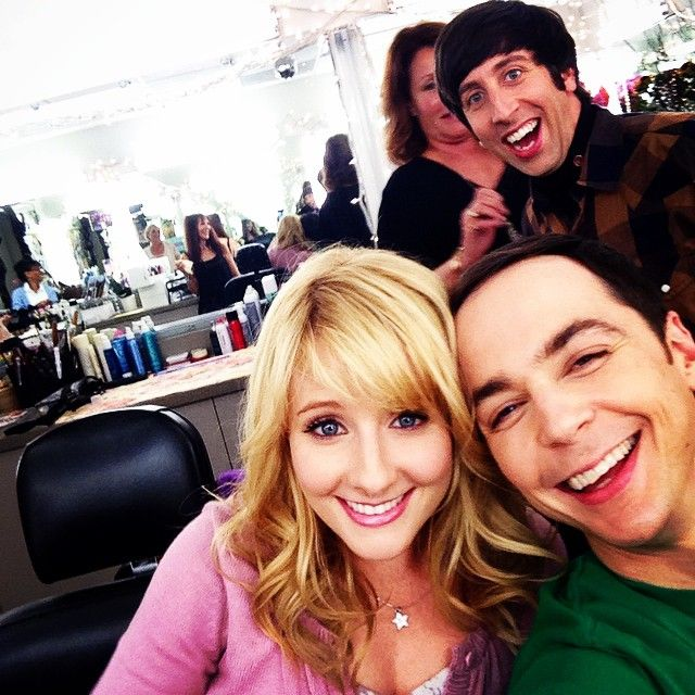 Pre-show in the make up room. The Big Bang Theory