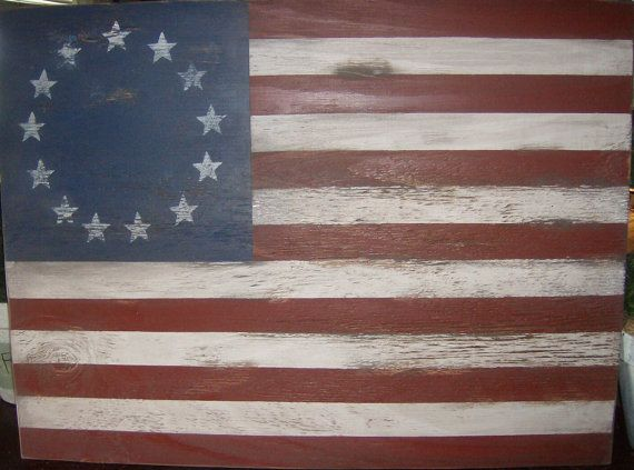 Distressed American Flag Wall Decor 1776 Style By