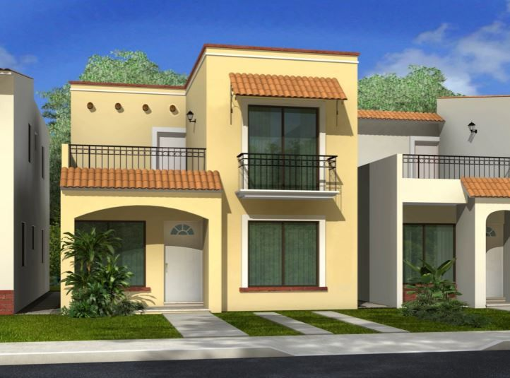 Fachadas Casas Adosadas Bonitas Fachada Casa Pequena Fachada De Casa Fachada De Casas Mexicanas