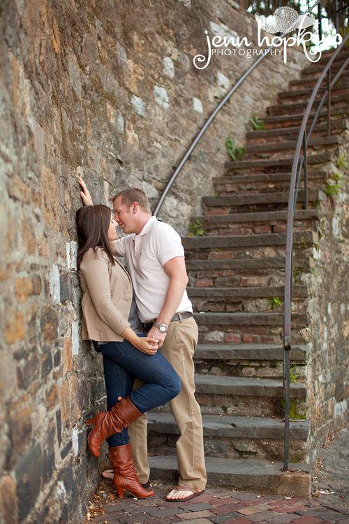 Engagement Photos taken in Downtown Savannah