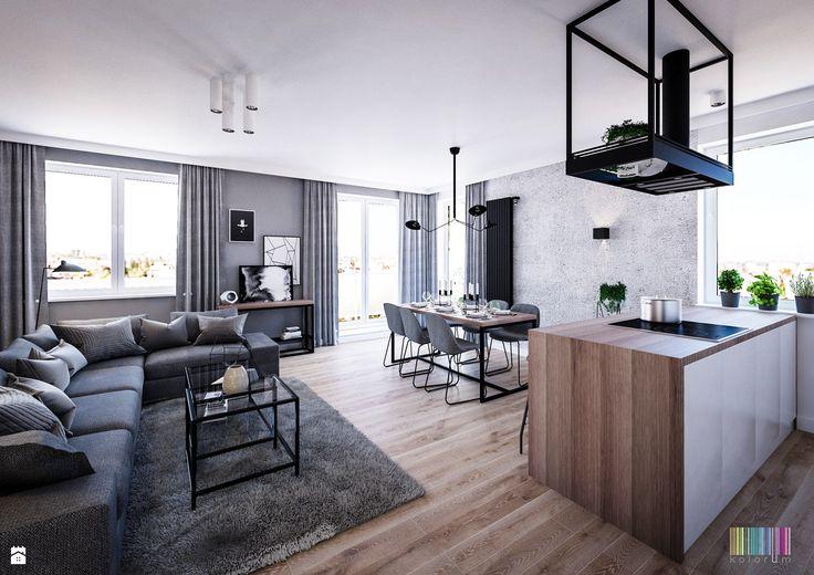 salon loft - zdjęcie od KOLORUM - Salon - Styl Industrialny - KOLORUM