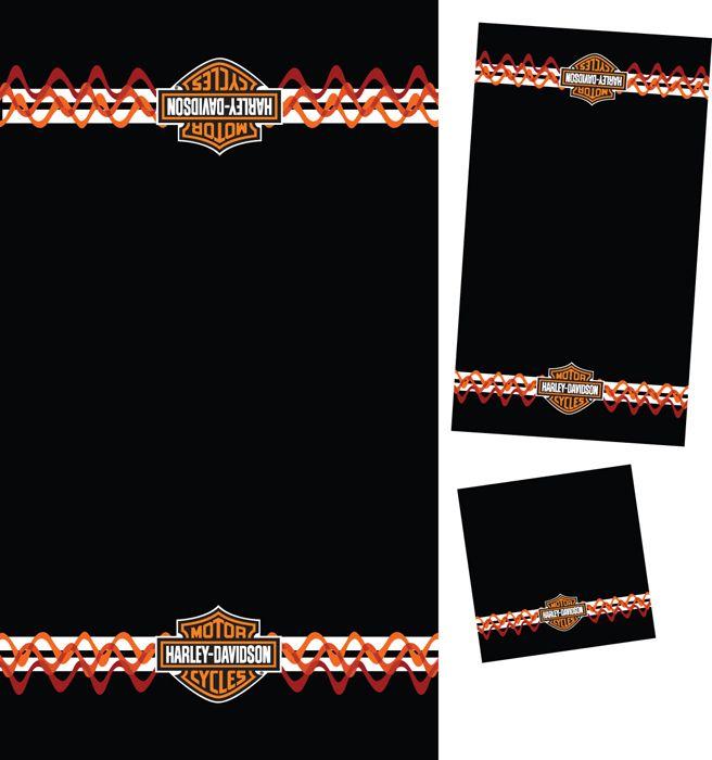 Amazing Harley Davidson® 3 Piece Towel Bath Set Stripes U0026 Waves