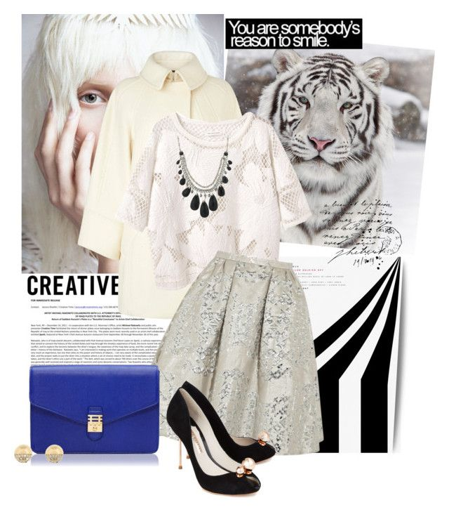 """""""skater skirt winter"""" by lindagama ❤ liked on Polyvore featuring Avenue, KAROLINA, L.K.Bennett, Étoile Isabel Marant, Peter Pilotto, Florian London, 1928, Sophia Webster, lace and clutches"""