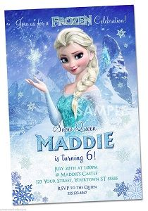Personalized Disney Frozen invitations and party ideas