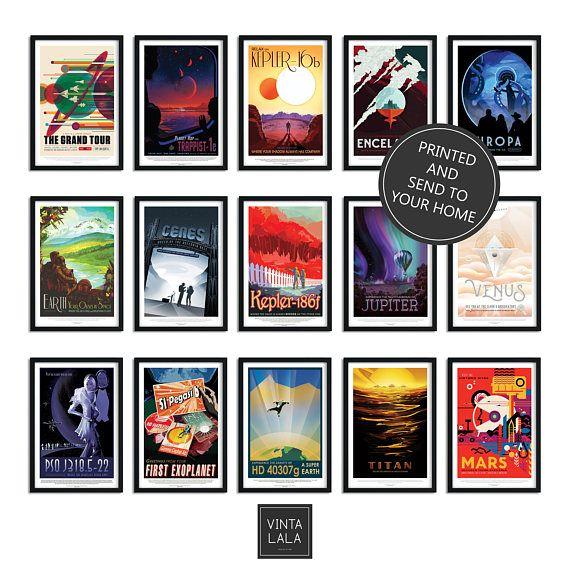 Nasa Space Art Space Wall Art Nasa Prints Spaces Poster Nasa Posters Outer Space Decor Space Art Alien Poster Nerd Nasa Art Nasa Travel Posters Prints