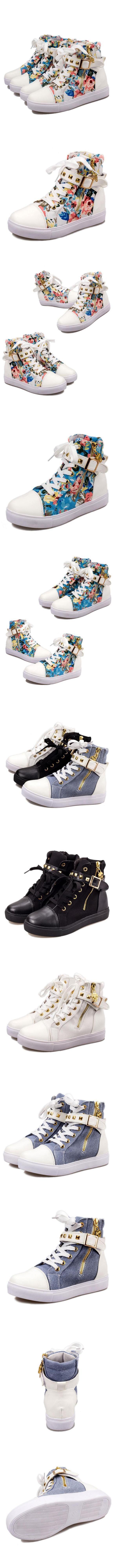 2017 Autumn New High Help Canvas Shoes, Women Shoes, Tide Zipper, Rivets, Students Flat White , https://myalphastore.com/products/2017-autumn-new-high-help-canvas-shoes-women-shoes-tide-zipper-rivets-students-flat-white/,