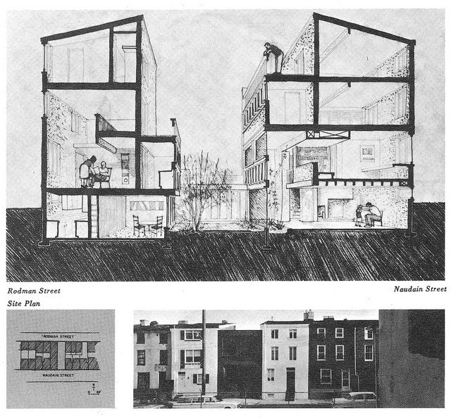 Buten House, Philadelphia PA 1962 - Louis Sauer, Architect