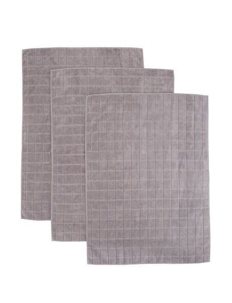 A set of three microfibre tea towels, which form part of the Haven Kitchen Sparkle range.