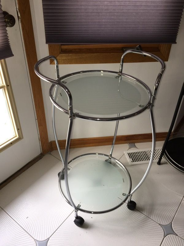 Chrome bar cart ( Furniture ) in Lisle, IL - OfferUp