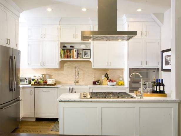 White modern kitchen #HouseBeautiful