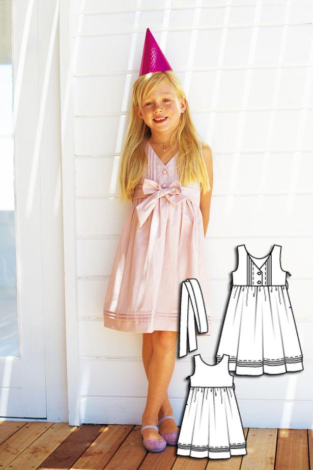 Girls Party Dress 06/2010 #burdastyle #sewingpattern #kidssewing #diy