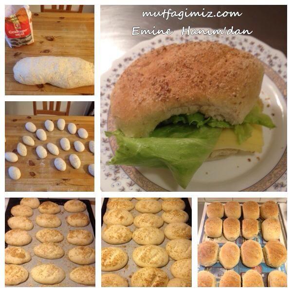 Ev Yapımı Küçük Ekmek Tarifi | Mutfağımız