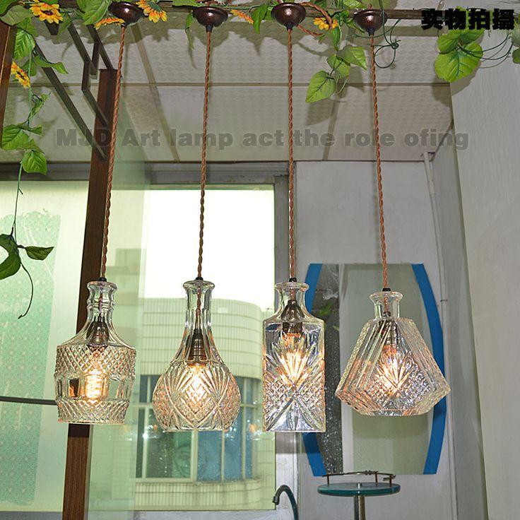 Precio del wholsale licor botella combinación de Blue Sky bar lámparas colgantes ktv envío gratis(China (Mainland))