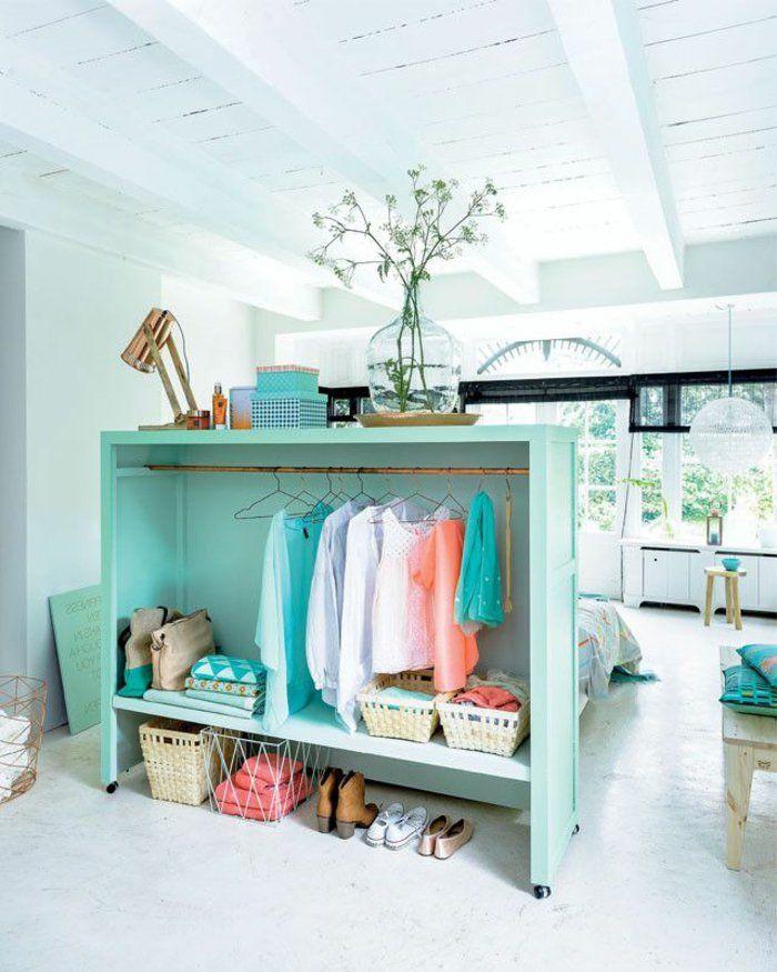 aménager dressing avec étagère | aménager un dressing, tête de lit- dressing