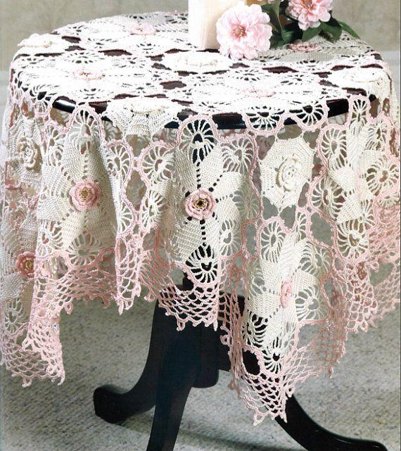 Small Victorian Tablecloth Crochet Pattern by PearlShoreCat