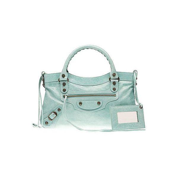 Balenciaga First Top Handle Bag Maldives ❤ liked on Polyvore featuring bags, handbags, top handle bag, top handle handbags, balenciaga handbags, green bags and handle bag